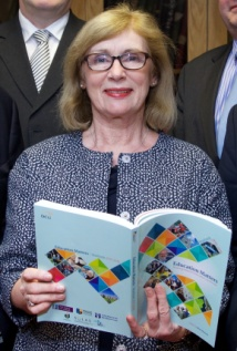Minister for Education & Skills Jan O'Sullivan addresses educators and friends gathered in the National University of Ireland, Merrion Square Dublin, for the launch of Education Matters Yearbook 2015-2016.