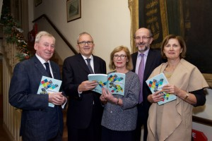 Dr Maurice Manning Chancellor National University of Ireland, Brian Mooney Editor Education Matters Yearbook, Jan O'Sullivan Minister for Education & Skills, Professor Brian MacCraith President Dublin City University, Dr Attracta Halpin Registrar National University of Ireland, pictured at the launch of Education Matters Yearbook 2015-2016.