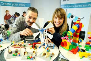 Pictured at the launch of the new Lego® Education Centre (LEIS): Dan Gilbert and Nicola Broderick, staff at DCU's Institute of Education.
