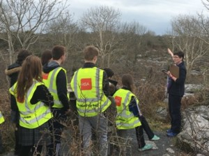 Students carrying out field studies at Burren Nature Sanctuary
