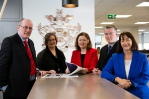 Members of the working group responsible for developing the new BA (Hons) in Insurance Practice Apprenticeship Programme l to r: Dr Michael Barrett IT Sligo, Susan Naughton Irish Brokers Association, Paula Hodson Insurance Institute, Michael Horan Insurance Ireland, Sandra Harvey-Graham Insurance Institute.