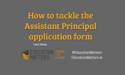 How to tackle the Assistant Principal application form