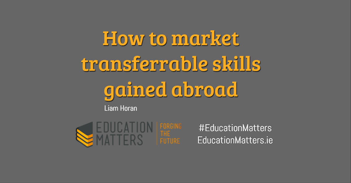 How to market transferrable skills gained abroad