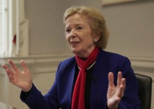 Mary Robinson, former President of Ireland and leader of the Mary Robinson Climate Justice Foundation