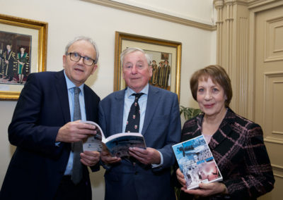 Dr Brian Mooney, Prof Maurice Manning & Phyllis Mitchell