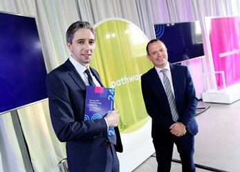 Simon Harris, for Further and Higher Education, Research, Innovation and Science, and Andrew Brownlee, CEO of SOLAS, the Further Education and Training Authority.