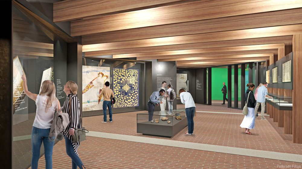 Proposed new Treasures Gallery at University College Cork which will house a variety of artefacts with The Great Book of Ireland as the centrepiece.
